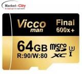 رم میکرو 64 گیگ VICCO MAN 600x U3